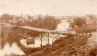 Foot Bridge, Meduxnekeag River, Houlton, 1896