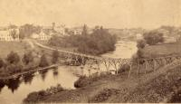 Foot Bridge on Meduxnekeag River, Houlton, 1890