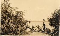 Mud Pond portage, 1911