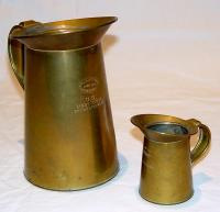 Brass Oil Measure Cans used in Lighthouses, ca. 1800