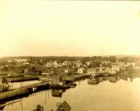Aerial View of Kennebunk Lower Village, 1880s