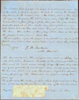 Letter with paper from Arnold's march to Quebec, 1868