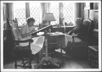 Booth Tarkington dictating a story to Elizabeth Trotter