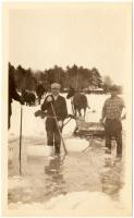 Ice business, Sebago Lake, ca. 1920