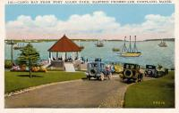 Postcard of Casco Bay from Fort Allen Park