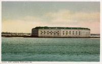 Fort Gorges, Portland, postcard, ca. 1900
