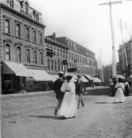 Pedestrians on Middle Street, c. 1890
