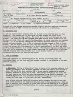 Intermediate Construction Inspection Report, November 9, 1961