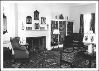 Kenneth Roberts' living room, Kennebunkport, 1939