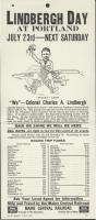 Lindbergh Day railroad promotion, 1927