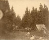 Camp in the Aroostook Woods, c. 1895