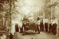 First automobile in Houlton, ca. 1905