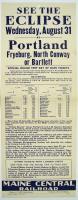 Eclipse train trip flyer, 1932