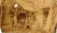 Walter Mansur at Camp Caribou, c. 1895