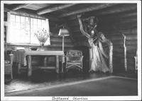 Staircase, old Driftwood Lodge, Rangeley Lake, 1938