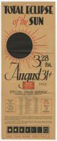 Total Eclipse of the Sun train excursion, 1932