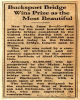 Waldo Hancock Bridge Prize Announced