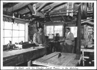 B. Franklin Stahl and Everett Powers, Rangeley, 1938