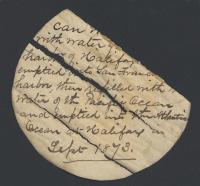 Atlantic Ocean water label, 1873