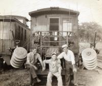 Railroad employees, Union Station, Bangor
