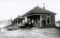 Passenger waiting room, Kittery, c. 1900