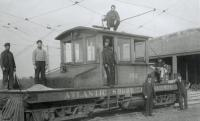 Atlantic Shore Line Railway locomotive, South Berwick, 1906