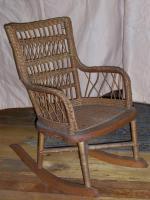 Child's Rattan Rocking Chair