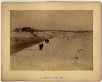 Ice harvesting at Long Creek, South Portland, ca. 1890