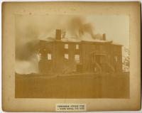 Fire, State School for Boys, ca. 1880