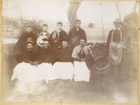 State School staff in costume, ca. 1880s