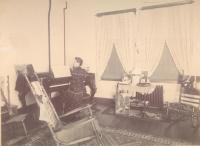 Living room, State School for Boys, ca. 1880