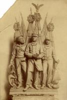 Plaster model for the Portland Soldiers and Sailors Monument, Naval Group, ca. 1890