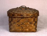 Hat Box Basket, ca. 1800-1850