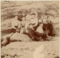 Chaplins and Skillins at Higgins Beach, ca. 1900