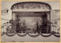 Stage at Emery Hall, Bucksport, ca. 1910