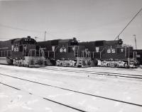 Bangor and Aroostook engines, ca. 1970
