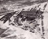 Bangor and Aroostook Railroads Derby Yard, ca. 1940