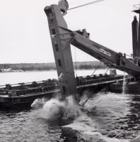 'Charles A. Richardson' dredging Searsport Harbor, 1966