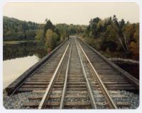 Bangor and Aroostook Railroad Trestle Guard Rails, c. 1970
