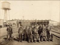Bangor and Aroostook Railroad's Oakfield yard crew, c. 1935