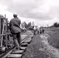 Bangor and Aroostook Railroad Track Repair, Littleton, 1956
