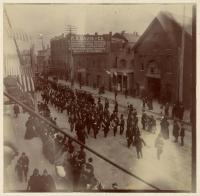 Soldiers leaving for Spanish-American War, Portland, 1898