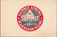 Summit Spring advertising card, Harrison, ca. 1881