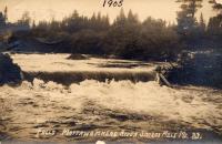 Falls on Mattewamkeag River, Smyrna Mills, 1905