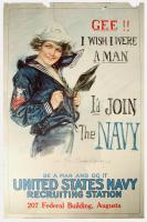 Gee!! I wish I were a man World War I poster, 1917