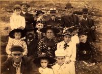 Group photo of Roberts, Burgess and Skillings, ca. 1895