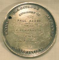 Akers commemorative medal, 1854