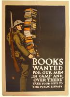 Books wanted World War I poster, ca. 1918