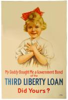 My daddy bought me a government bond of the Third Liberty Loan, World War 1 poster, 1917