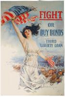 Fight or buy bonds, World War I poster, 1917